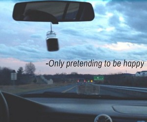 happy, to be, and pretending image