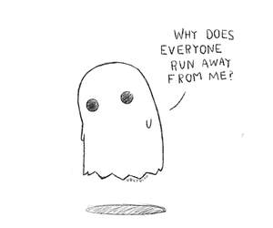 ghost, sad, and quotes image