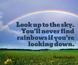 motivation, quotes, and rainbow image
