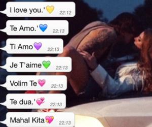I Love You, je t'aime, and te amo image