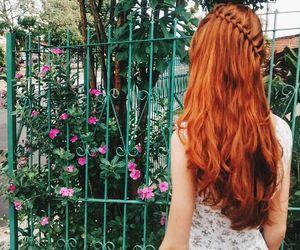 redhead, braid, and girl image