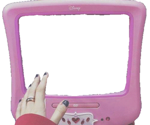 pink and tv image