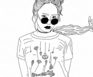 outline, grunge, and art image