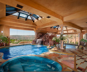 pool, beautiful, and house image