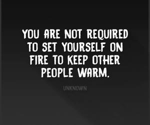 quotes and fire image