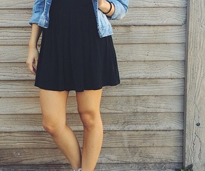 black dress, confortable, and outfit image