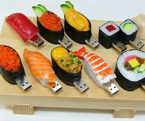 sushi, usb, and food image