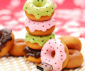 donuts, sweet, and usb image