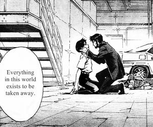 manga, black and white, and evangelion image