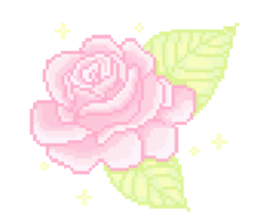 flowers, kawaii, and pixel image