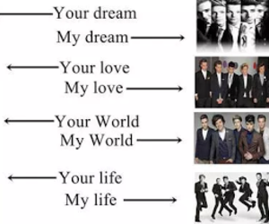 one direction and love image