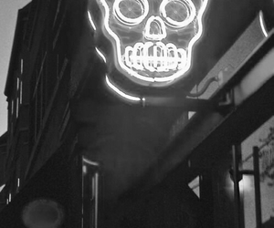 skull, neon, and light image