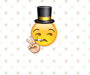 hat and emoji image
