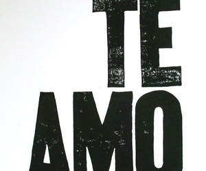 love, te amo, and quote image