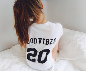 girl, hair, and good vibes image