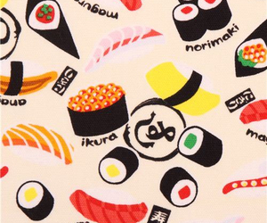 japan, kawaii, and sushi image