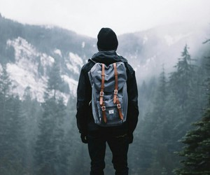 boy, travel, and back pack image