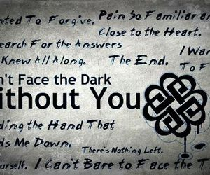 quote, without you, and breaking benjamin image