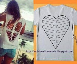 heart, white, and remera image