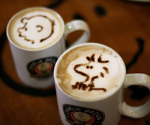 coffee, peanuts, and snoopy image