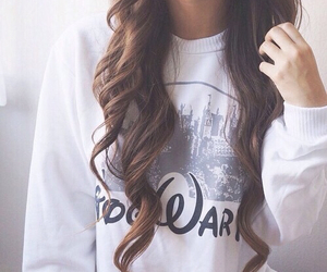 hair, disney, and sweater image