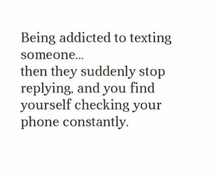 addicted and texting image