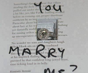 love, book, and ring image