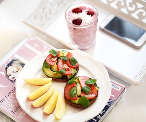 food, smoothie, and fruit image