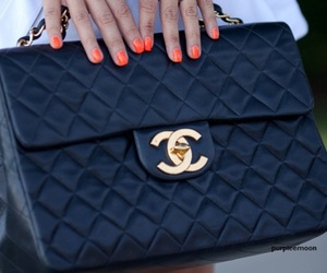 bag, black, and chanel image
