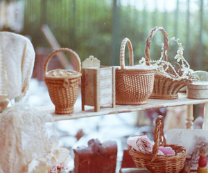 baskets and vintage image