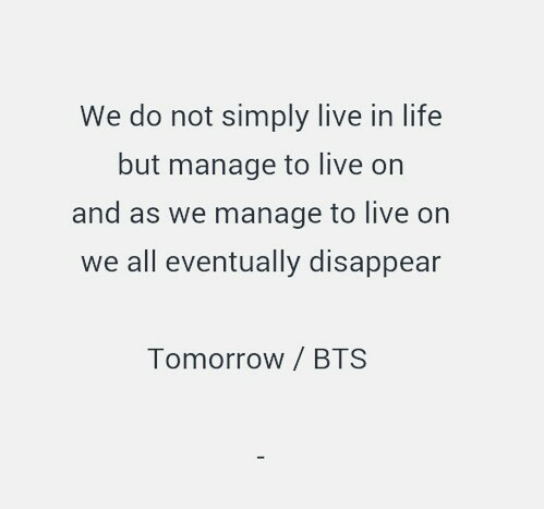 30 Images About Lyrics On We Heart It See More About Bts Quote