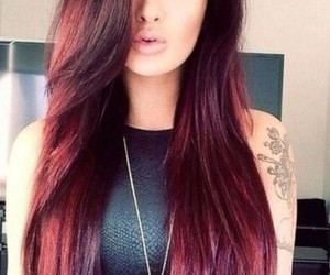 beautiful, red, and hair image