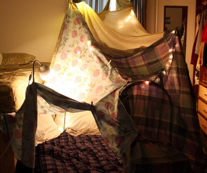 light, tent, and childhood image