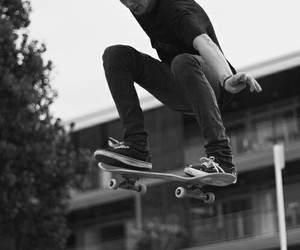boy, skate, and skateboard image