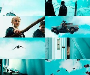 harry potter, blue, and car image