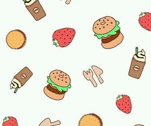 food, wallpaper, and strawberry image