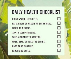 checklist, healthy, and exercise image