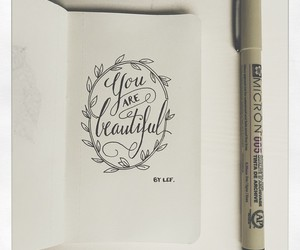 beautiful, drawing, and lettering image