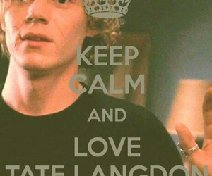 tate langdon, evan peters, and american horror story image