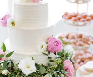 cake, flowers, and sweets image