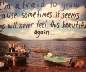 quotes, grow up, and afraid image