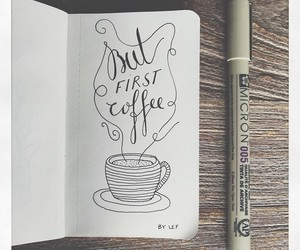 coffee, sketch, and trending image