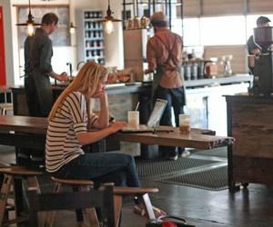 cafe, coffee house, and coffee shop image