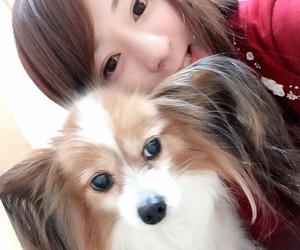 dog, japanese girl, and kawaii image