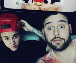 justin bieber and scooter braun image