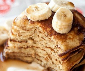 bananas, breakfast, and pancakes image