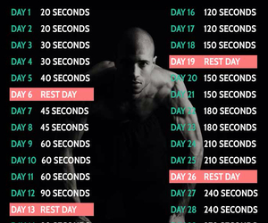 plank, challenge, and workout image