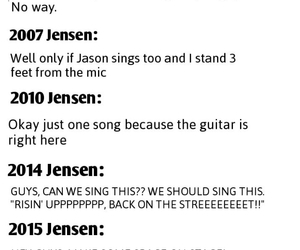 funny, Jensen Ackles, and rock image