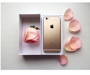 iphone, rose, and gold image