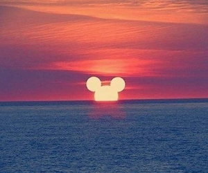 beach, disneyland, and mickey mouse image